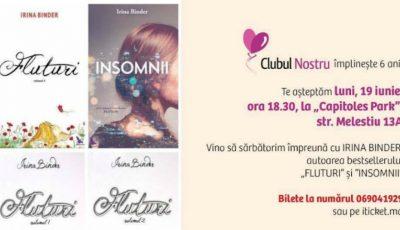 """Clubul Nostru invită femeile din Moldova la o întâlnire de suflet cu Irina Binder, autoarea romanului ,,Fluturi""""!"""