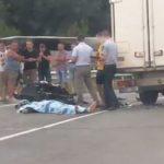 Foto: Accident groaznic pe traseul Chişinău-Leuşeni. Un motociclist a murit