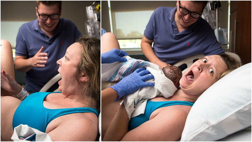 Pozele cu o mamă care își vede bebelușul pentru prima oară au devenit virale!