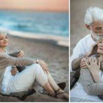 Foto: Un cuplu trecut de prima tinerețe, surprins în ipostaze tandre pe o plajă! Fotografiile au emoționat internauții