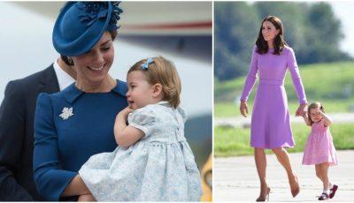 Cum își asortează ținutele Kate Middleton şi fiica ei, prințesa Charlotte!