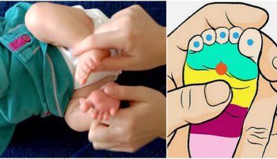 Cum poți liniști un bebeluș care plânge! Află ce puncte să masezi pentru a-l scăpa de durere
