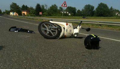 O moldoveancă a căzut de pe scuter în Italia. Starea ei este gravă
