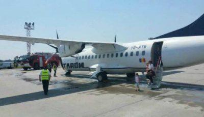 Un avion de pe cursa București-Chișinău, așteptat de pompieri la numai 20 de minute de la decolare!