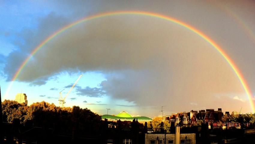 Foto: Video! Cum arată curcubeul de la înălțime