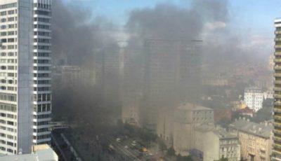 Incendiu puternic în centrul Moscovei