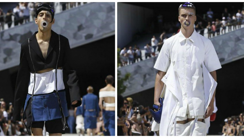 Spectacolul de modă de la Paris, care a șocat publicul la propriu