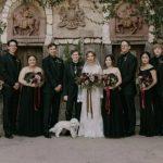 Foto: Nuntă neobișnuită! La dorința miresei, domnișoarele de onoare au purtat rochii negre