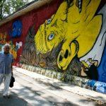 Foto: Un tânăr artist a creat o pictură murală impresionantă în centrul Capitalei