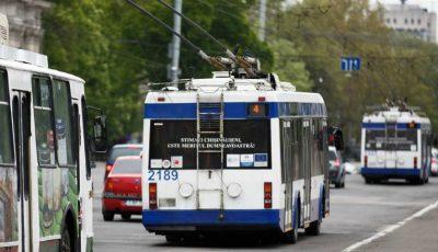 De astăzi, o rută de troleibuz din Capitală și-a schimbat traseul