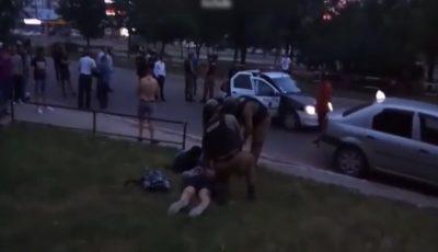 Video! Bătaie violentă la un club de noapte din Capitală. Mascații au intervenit în forță