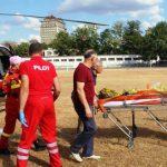 Foto: Video! Un bărbat din Ocnița care a suferit arsuri grave, a fost transportat la Chișinău de un echipaj SMURD