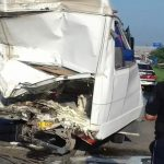 Foto: Grav accident cu implicarea unui microbuz cu pasageri de pe ruta Cobusca-Chișinău!