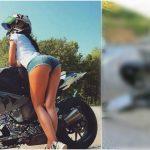 """Foto: ,,Cea mai sexy motociclistă din Rusia"""" a murit în timp ce filma cum încalcă regulile de circulație, pentru Instagram"""