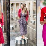 Foto: Cum să porți roșul – culoarea toamnei 2017!