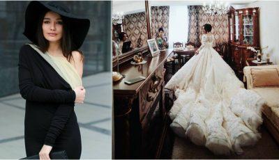 Bloggerița Hellen Monroe face astăzi nunta! Iată cum arată rochia de mireasă