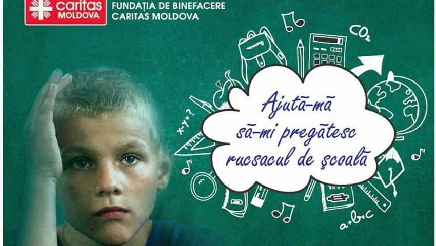 """Foto: CAMPANIA UMANITARĂ – """"Ajută-mă să-mi pregătesc rucsacul de școală"""""""