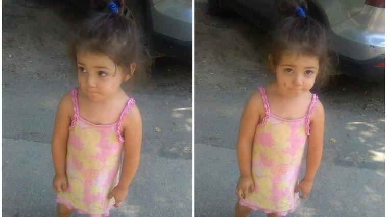 Atenție! O fetiță de 2 ani a fost găsită singură pe o stradă din Capitală. Se caută părinții