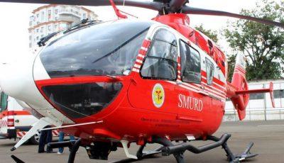 Video. Un copil de un an și 4 luni, transportat de urgență cu un elicopter Smurd de la Chișinău la București