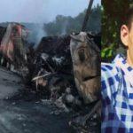 Foto: Tragic! Un moldovean a ars de viu în camionul pe care îl conducea în SUA