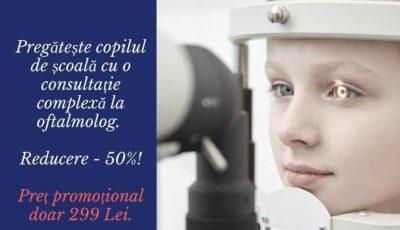 Ofertă specială! Pregătește copilul de școală cu o consultație complexă la Clinica Oftalmologică MCI