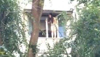Video. O adolescentă din Capitală amenință de mai bine de două ore că se aruncă în gol de la balconul unui bloc