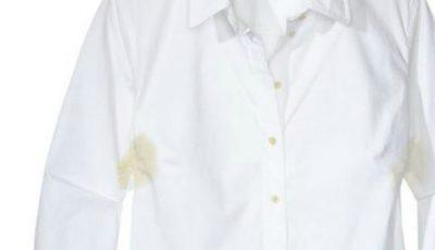 Cum scoți petele de transpirație de pe haine