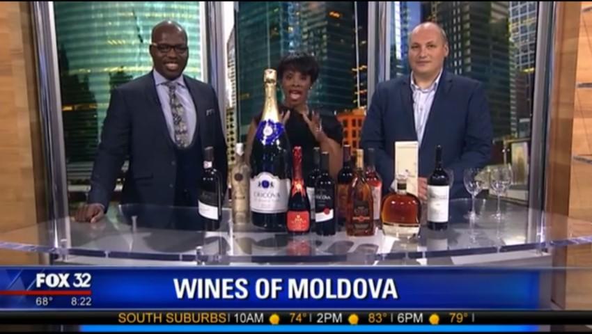 Foto: Vinul moldovenesc a făcut senzație la o emisiune TV din Chicago! Vezi video