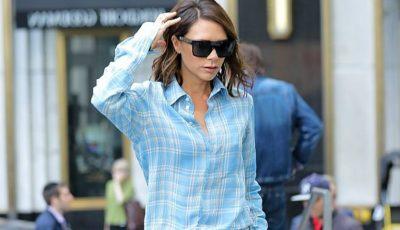 Victoria Beckham, în pijama pe stradă!