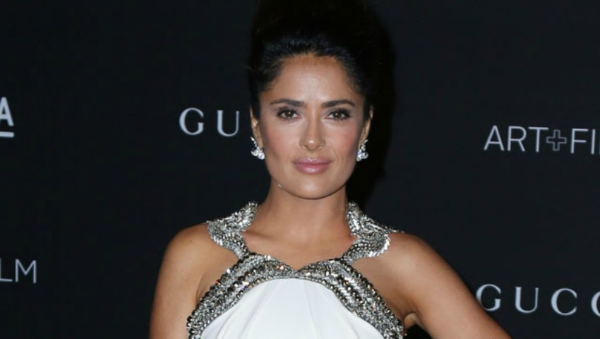 Salma Hayek and Francois-Henri Pinault arrive for the 2014 LACMA art+film gala at the Los Angeles County Museum of Art in Los Angeles, CA.  Pictured: Salma Hayek Ref: SPL880555  021114   Picture by: London Entertainment/Splash News  Splash News and Pictures Los Angeles:310-821-2666 New York:212-619-2666 London:870-934-2666 photodesk@splashnews.com