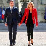 Foto: Emmanuel Macron i-a făcut o declarație de dragoste soției sale, în direct, la TV