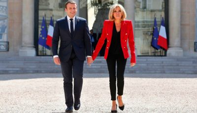 Emmanuel Macron i-a făcut o declarație de dragoste soției sale, în direct, la TV