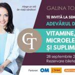 Foto: Seminar de Septembrie START: Adevărul despre Vitamine, Microelemente şi Suplimente!