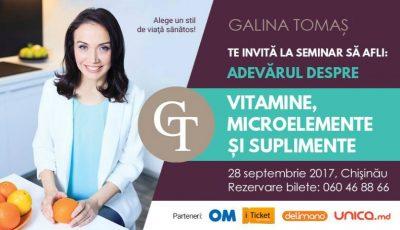 Seminar de Septembrie START: Adevărul despre Vitamine, Microelemente şi Suplimente!
