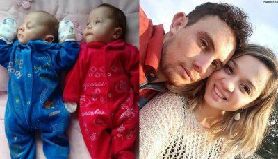 Gemenii s-au născut la patru luni după moartea mamei!