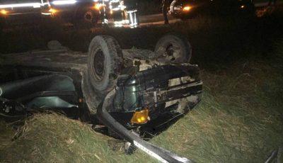Accident grav în apropiere de Chișinău: o mașină s-a răsturnat. Un tânăr de 31 de ani a murit pe loc!