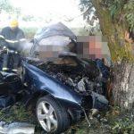 Foto: Accident grav la Ștefan Vodă: trei oameni au ars într-o mașină care a luat foc