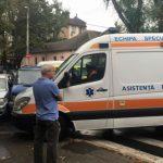 Foto: Accident grav în Capitală. O persoană a avut de suferit, după ce trei automobile s-au tamponat violent