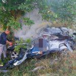 Foto: Pasagerii implicați în accidentul de la Ștefan Vodă, erau frați, în vârstă de 26 și 36 de ani