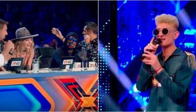 Moldoveanul Johy Davis a destins atmosfera la X Factor și i-a amuzat copios pe jurați! Vezi momentul