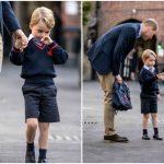 Foto: Prințul George a mers în clasa întâi. Iată cine l-a însoțit în prima zi de școală!
