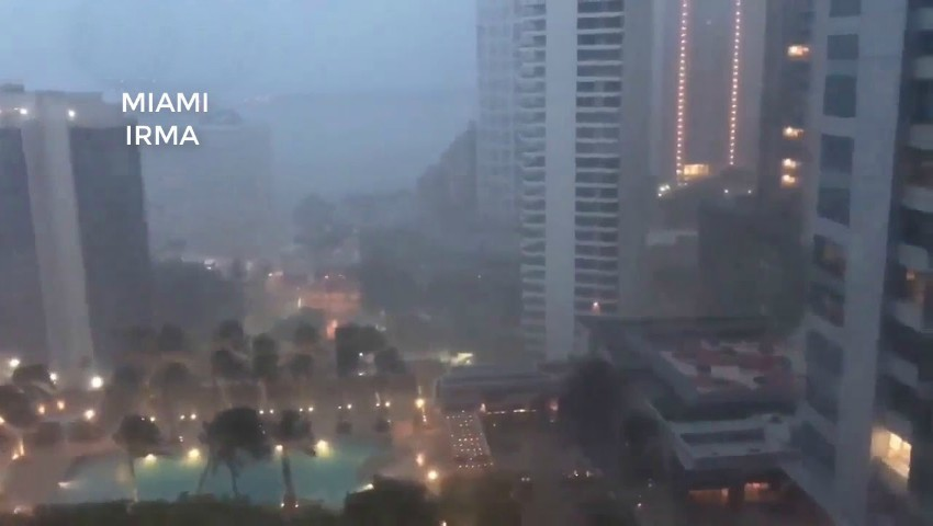 Foto: Video! Imagini din Miami. Uraganul Irma a făcut un dezastru