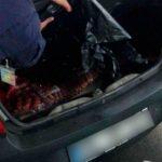 Foto: Mare atenție, consumatori! 56 kg de mezeluri de proveniență dubioasă urmau să ajungă în Moldova din Ucraina