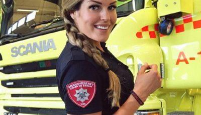 Ea este cea mai frumoasă femeie pompier din lume!