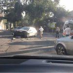 Foto: Accident grav în Capitală. O femeie de 55 de ani a avut de suferit