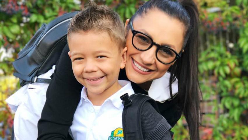 Foto: Emoții de nedescris pentru Andra. Astăzi, fiul ei David a mers în clasa întâi