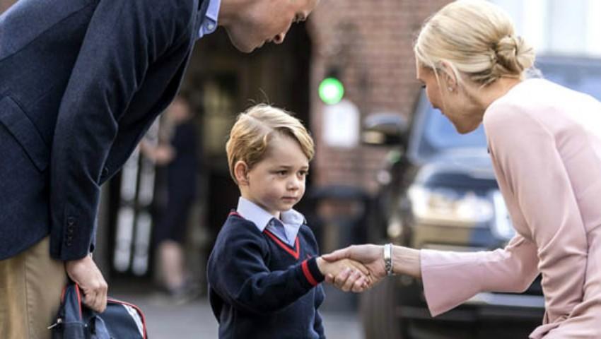 Foto: Ce mănâncă Prințul George la școală