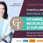 Foto: MENIU 28 septembrie. Vitamine, Microelemente şi Suplimente