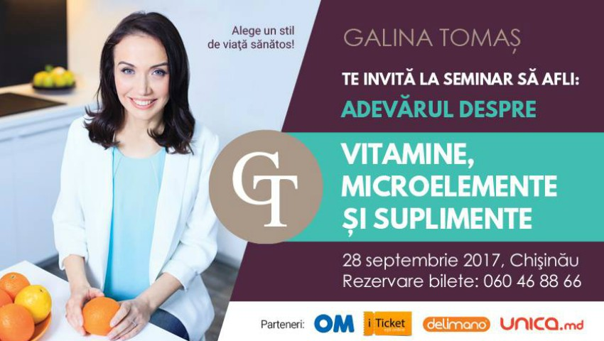 MENIU 28 septembrie. Vitamine, Microelemente şi Suplimente