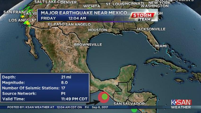 Foto: Cutremur cu magnitudinea 8 s-a produs în Mexic. O avertizare de tsunami a fost emisă pentru şapte state